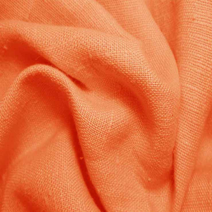 Heavyweight Linen 22 Orange - NY Fashion Center Fabrics