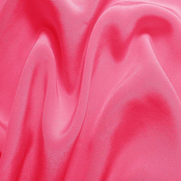 Silk Crepe de Chine Hot Pink