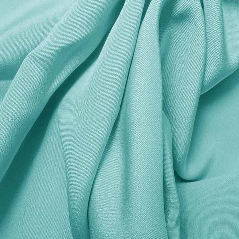 Silk 4 Ply Woven Crepe Light Turquoise