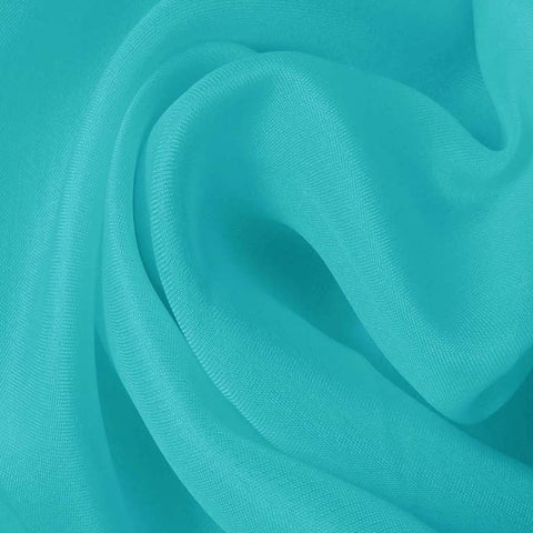 Silk Satin Face Organza Light Turquoise