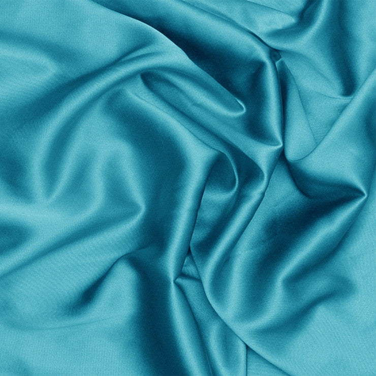 Silk Stretch Charmeuse Turquoise