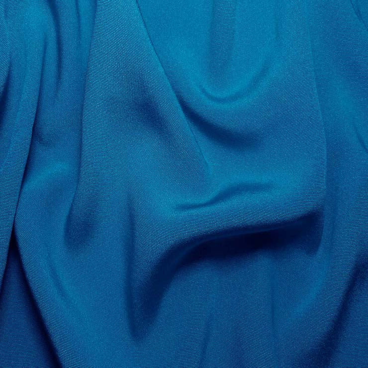 Silk Crepe Back Satin Tropical Blue