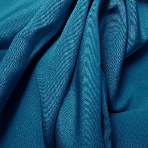 Silk 4 Ply Woven Crepe Tropical Blue