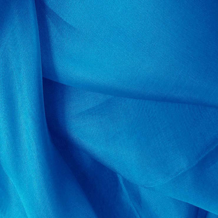 Silk Organza Tropical Blue