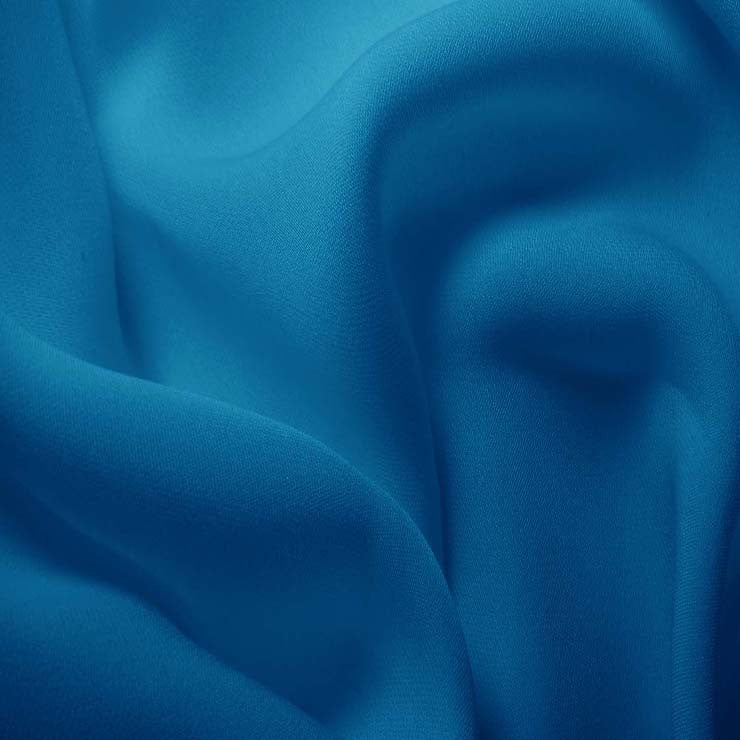 Silk Double Georgette Tropical Blue