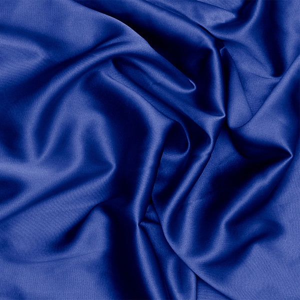 Silk Charmeuse Sapphire Blue Fabric By The Yard Ny