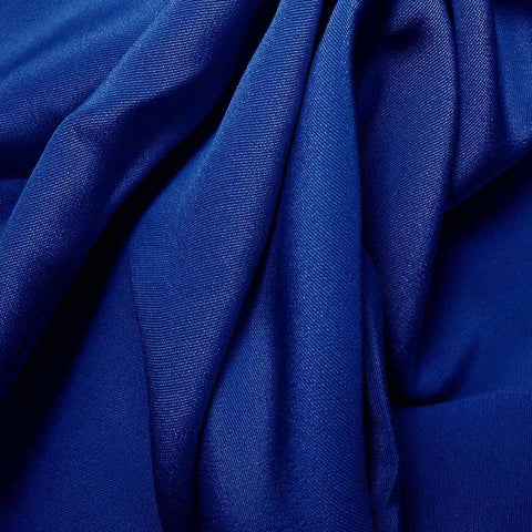 Silk 4 Ply Woven Crepe Sapphire Blue