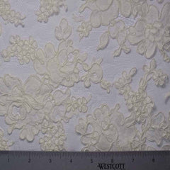 Alencon Lace #11 23 12060R 36 Ivory - NY Fashion Center Fabrics