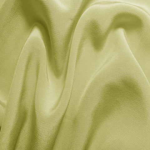 Silk Crepe de Chine Lime Wheat