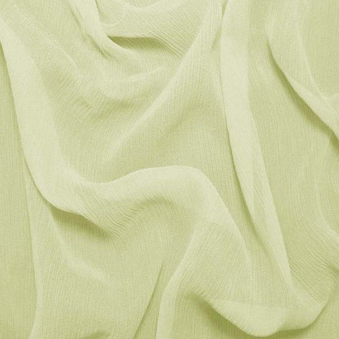 Silk Crinkle Chiffon Lime Wheat