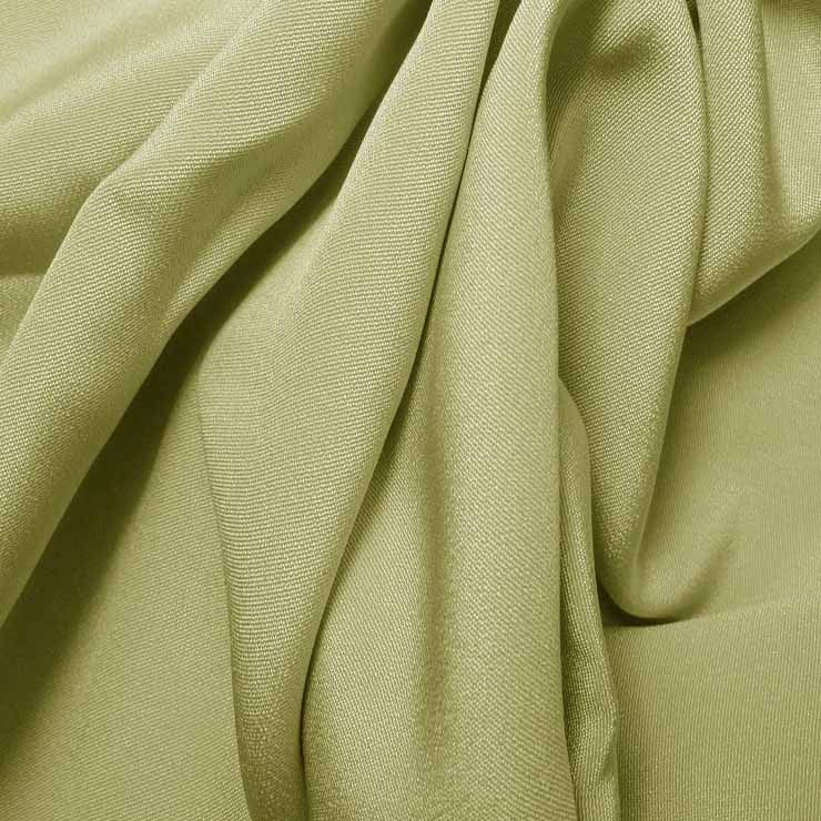 Silk 4 Ply Woven Crepe Lime Wheat