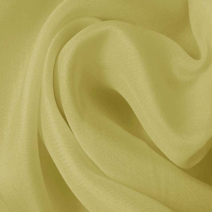 Silk Satin Face Organza Lime Wheat