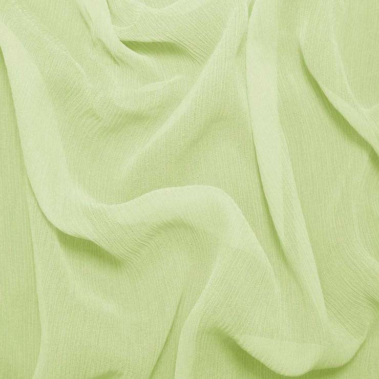 Silk Crinkle Chiffon Lemon Green
