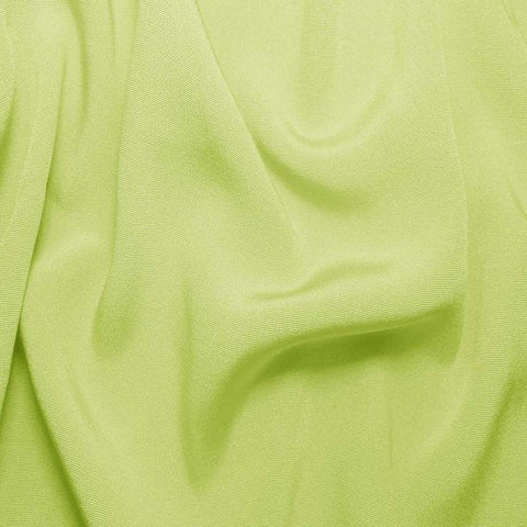 Silk Crepe Back Satin Lemon Green