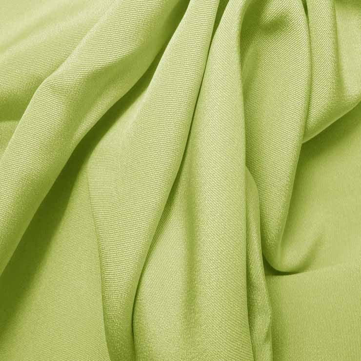 Silk 4 Ply Woven Crepe Lemon Green