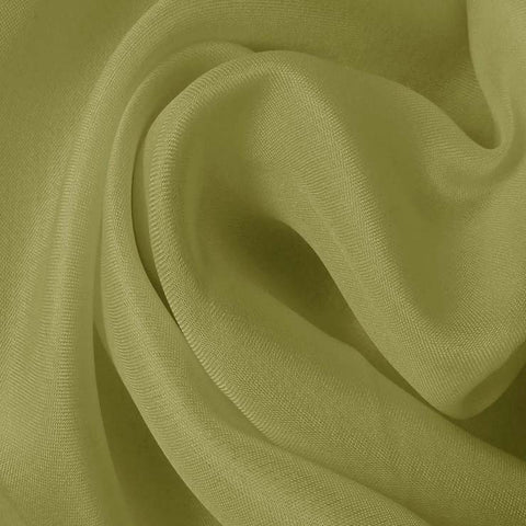 Silk Satin Face Organza Sage Green
