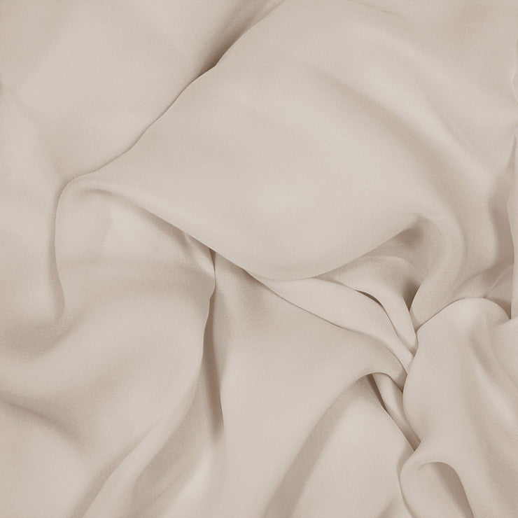 Silk Stretch Georgette Buff Beige