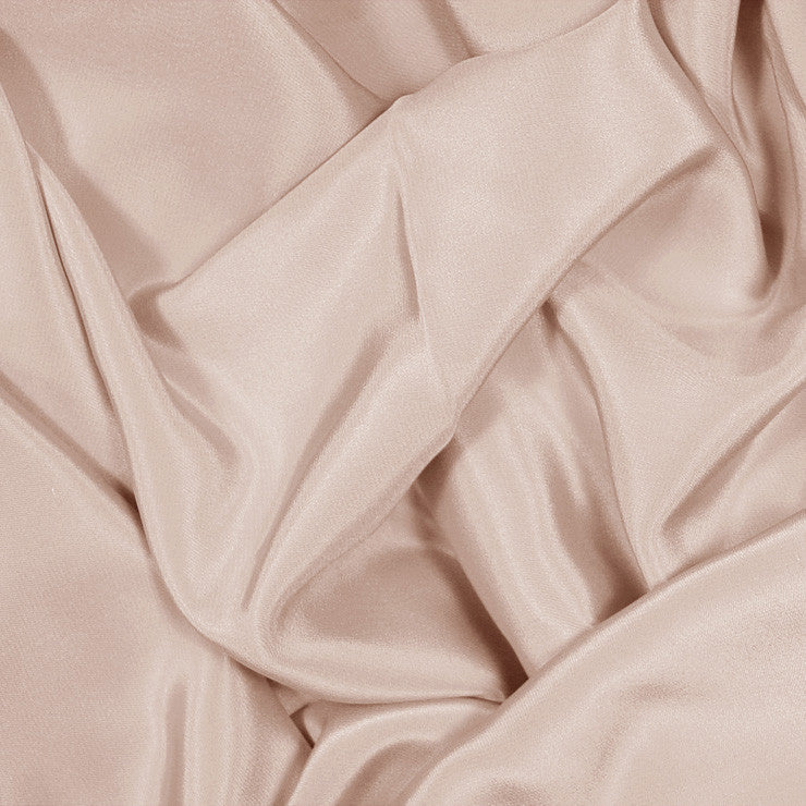 Silk Stretch Crepe De Chine Buff Beige