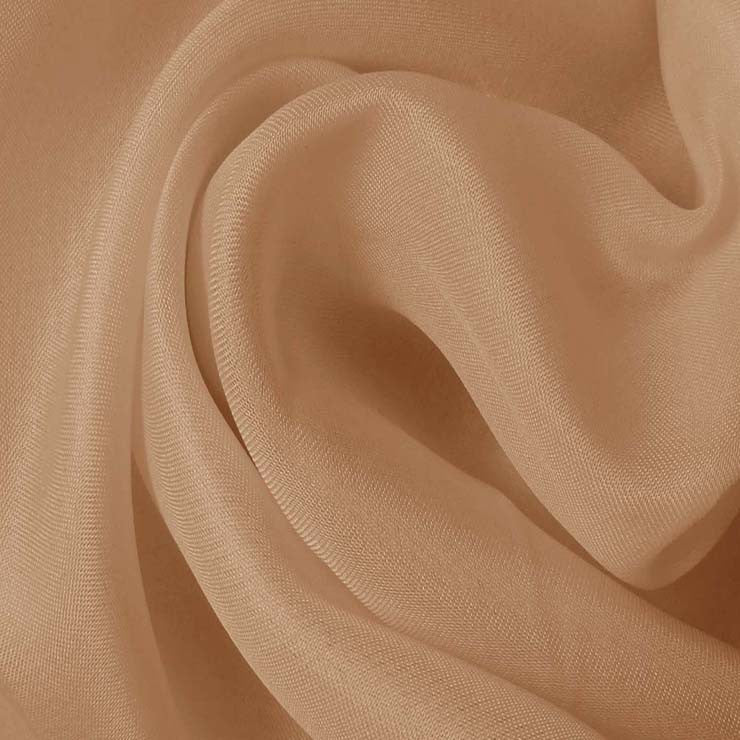 Silk Satin Face Organza Buff Beige