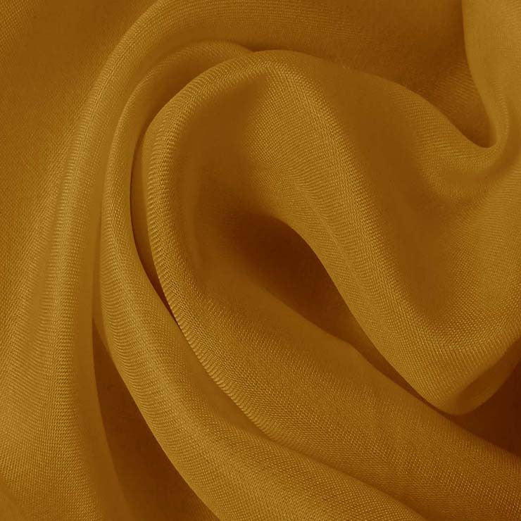 Silk Satin Face Organza Gold Tan