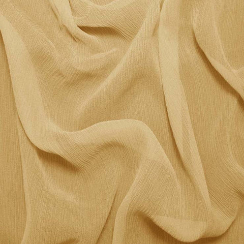 Silk Crinkle Chiffon Gold Tan
