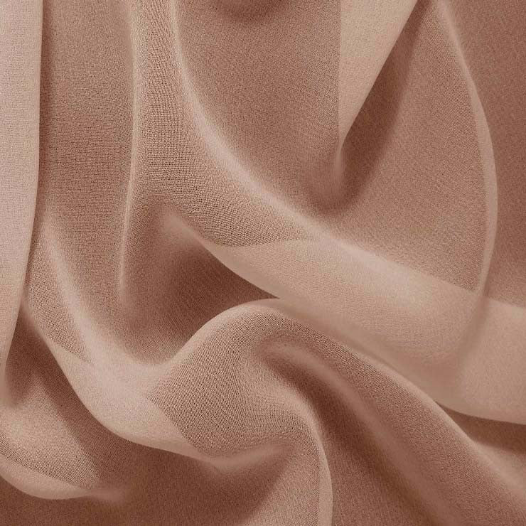 Silk Chiffon Gold Tan