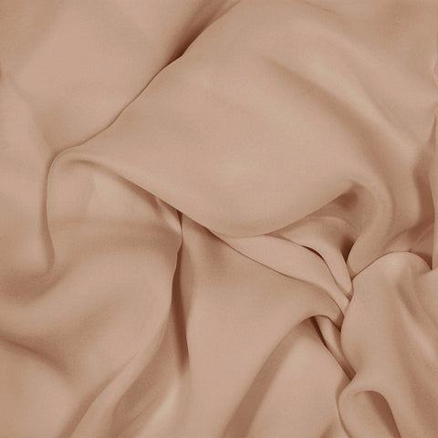 Silk Stretch Georgette Nude Rose