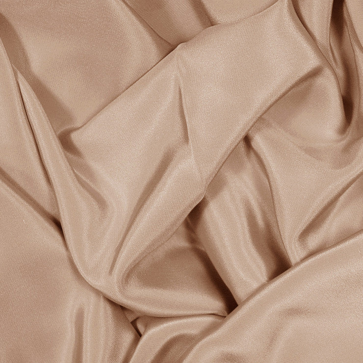 Silk Stretch Crepe De Chine Nude Rose