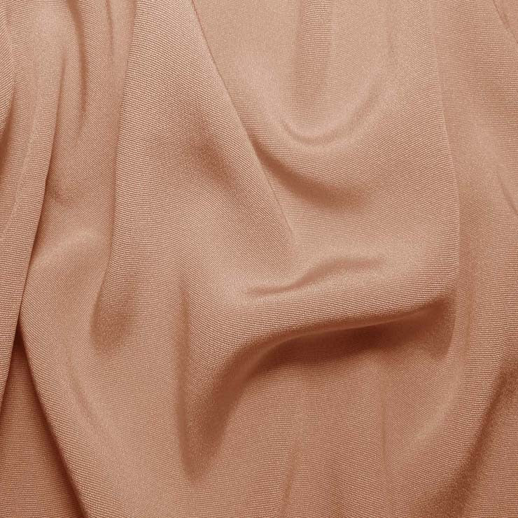 Silk Crepe Back Satin Nude Rose