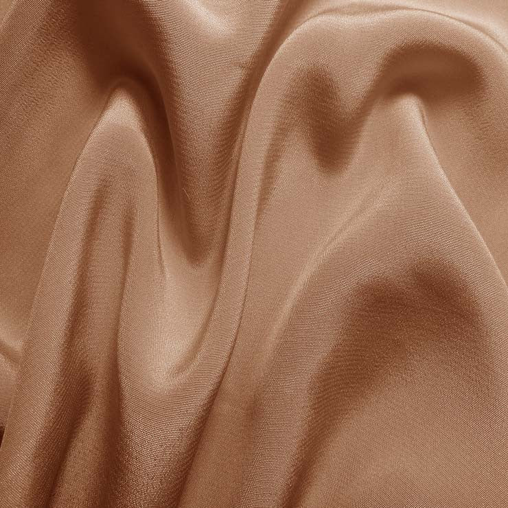 Silk Crepe de Chine Nude Rose