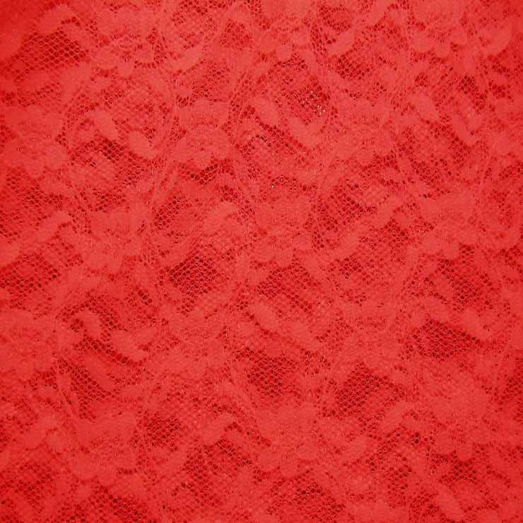 Nylon Stretch Raschel Lace 24 Crimson - NY Fashion Center Fabrics