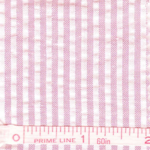 Cotton Blend Seersucker - 30 Yard Bolt 24 Narrow Pink - NY Fashion Center Fabrics