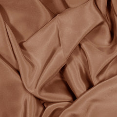 Silk Stretch Crepe De Chine Light Brown