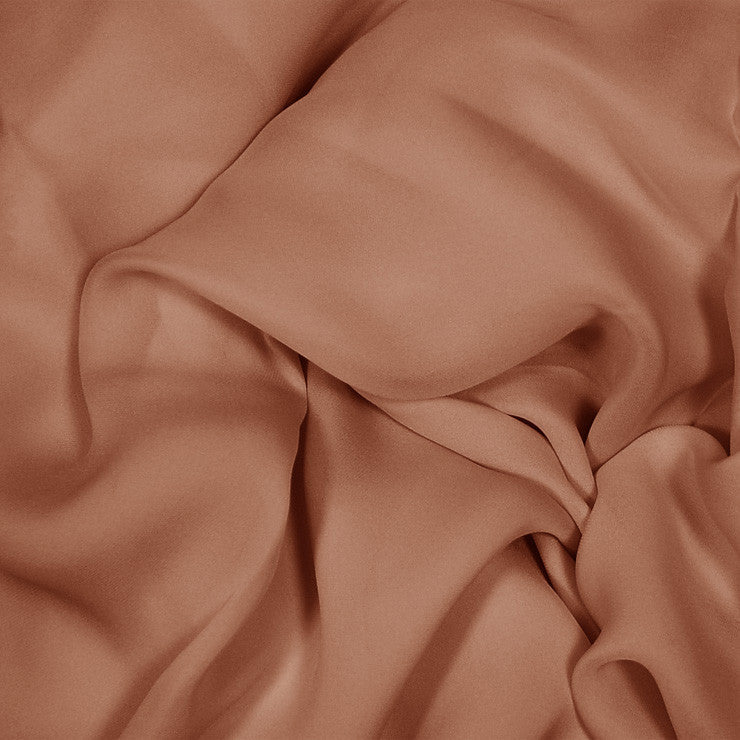 Silk Stretch Georgette Light Brown