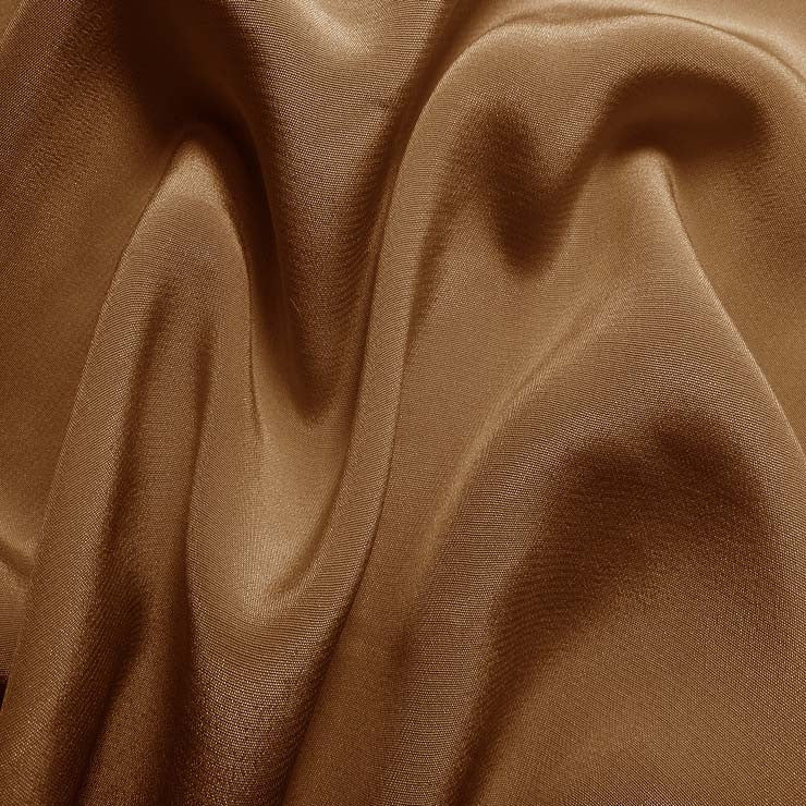 Silk Crepe de Chine Light Brown