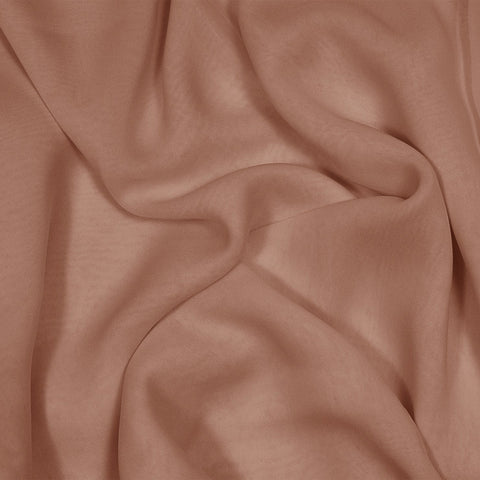 Silk Stretch Chiffon Light Brown