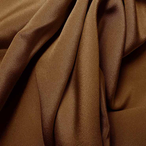 Silk 4 Ply Woven Crepe Light Brown