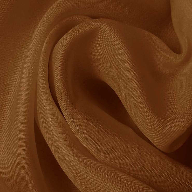 Silk Satin Face Organza Light Brown