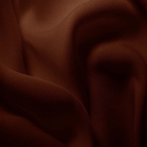 Silk Double Georgette Toffee Brown