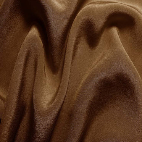 Silk Crepe de Chine Toffee Brown