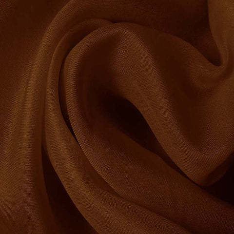Silk Satin Face Organza Toffee Brown