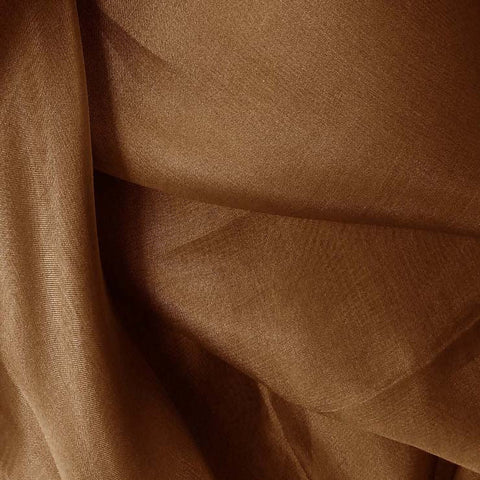 Silk Organza Toffee Brown