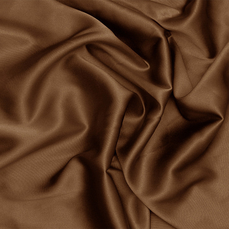 Silk Charmeuse Toffee Brown