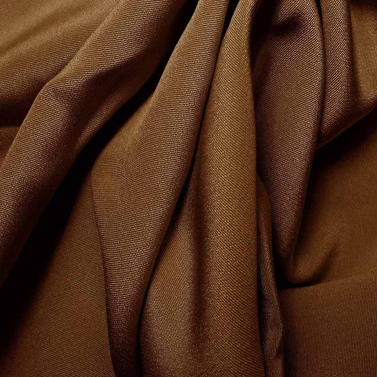 Silk 4 Ply Woven Crepe Toffee Brown