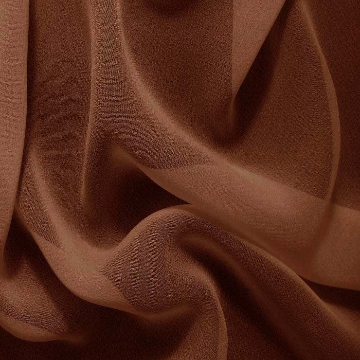 Silk Chiffon Toffee Brown