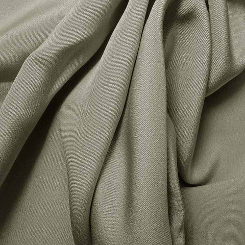 Silk 4 Ply Woven Crepe Overcast Gray