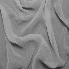 Silk Crinkle Chiffon Dove Gray