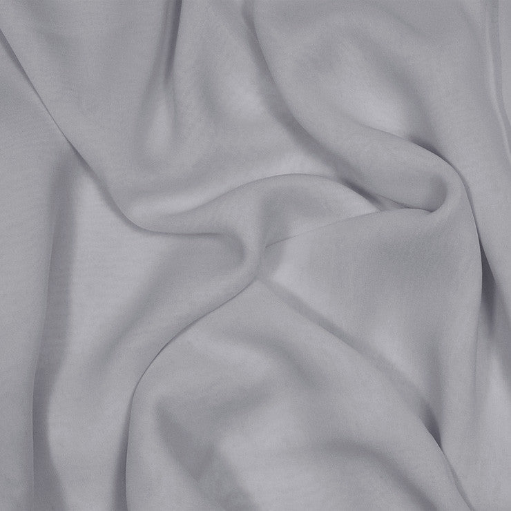 Silk Stretch Chiffon Gunmetal Gray