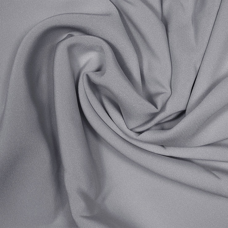 Silk Stretch 4 Ply Crepe Gunmetal Gray