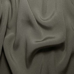Silk Crepe Back Satin Gunmetal Gray